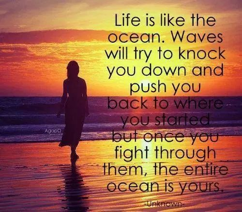 Life Is Like The Ocean Quotes: Life Is Like An Ocean....