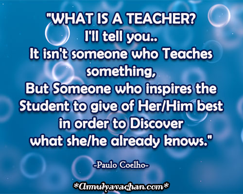 Who Is A Teacher